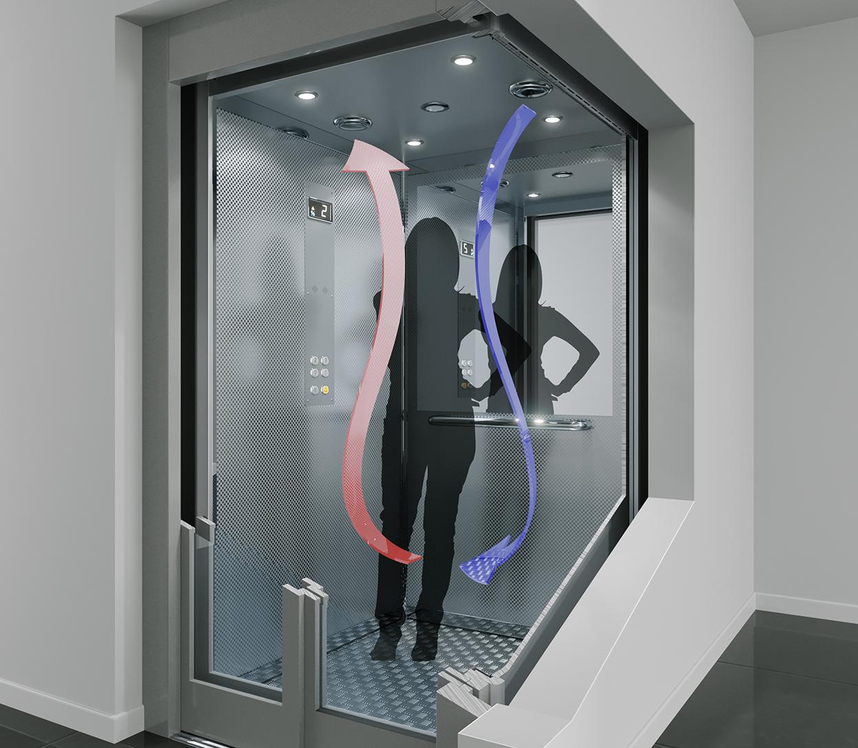 Ascensori: da IGV Group il kit che sanifica l'aria e sterilizza la cabina per la sicurezza di quelli già installati