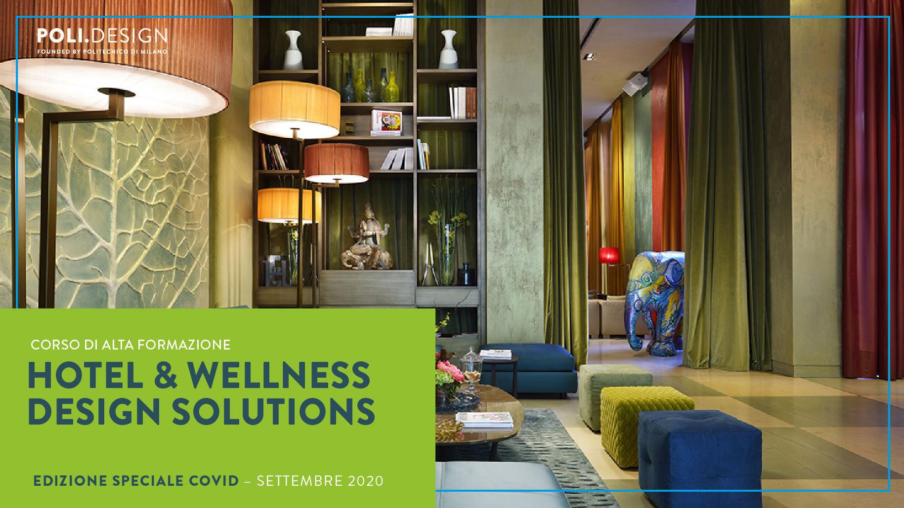 Hotel & Wellness Design Solutions: Corso speciale di Alta Formazione per ospitalità e igiene COVID19