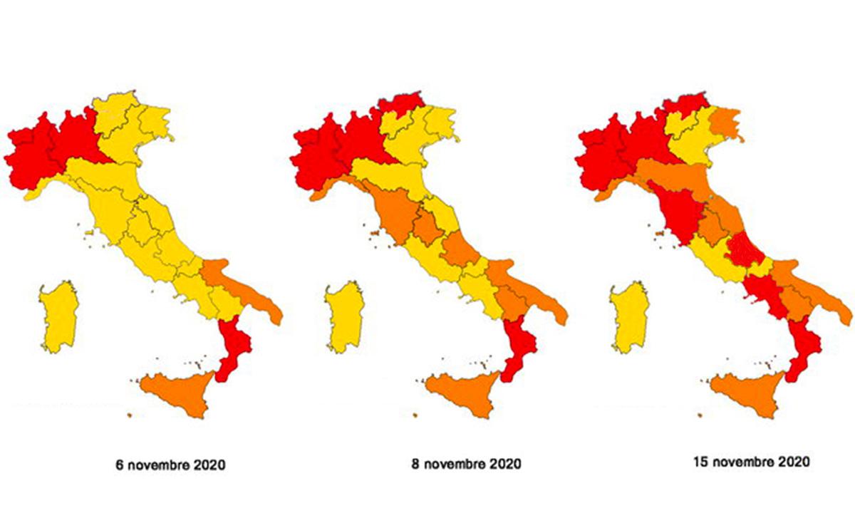 Cartina Geografica Regioni Italia.La Mappa Aggiornata Delle Regioni In Zona Rossa Arancione E Gialla Albergo Magazine
